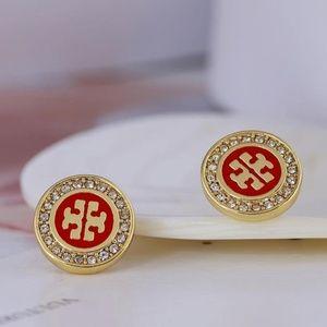 Tory Burch Earrings red
